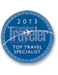 Mindy Gleason, O.A.R.S. Reservations Manager Condé Nast Traveler Top Travel Specialist 2007-2013 (River Rafting)