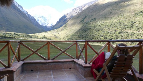 Relaxing at the Salkantay Lodge
