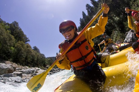 Paddle Rafting the North Fork American in California Photo Credit: Justin Bailie