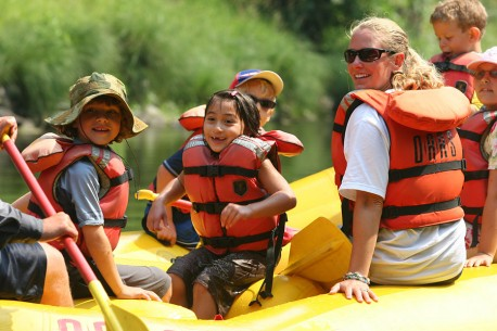 California rafting with the kids