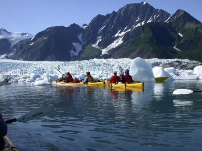 Kayaking in Pederson Glacier Lagoon