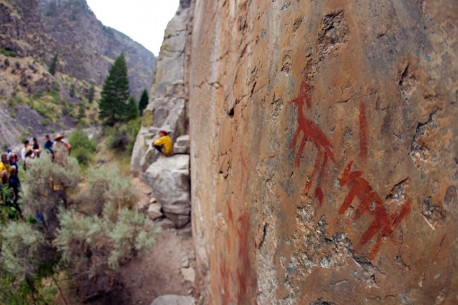 Pictographs above the Middle Fork Salmon River
