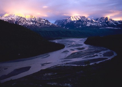 Sunset on the Matanuska River