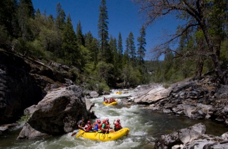 North Fork Stanislaus rafting in Big Trees State Park
