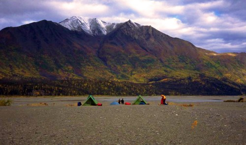 Camping on the Talkeetna River - Photo credit Nova
