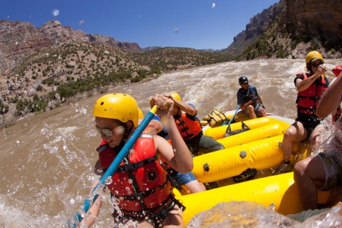 Green River Rafting through the Gates of Lodore