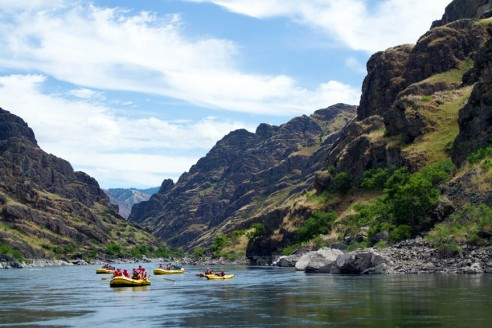 Snake River rafting through Hells Canyon