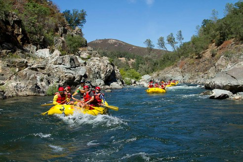 South Fork of the American River Rafting Near Sacramento