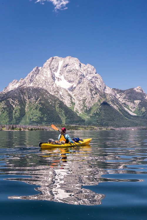 Exploring Wyoming National Parks - Jackson Lake Kayaking, Grand Teton National Park