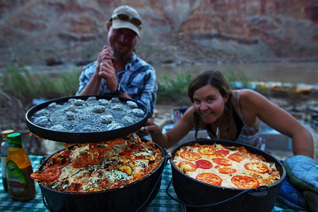 Gourmet camping on the river with OARS