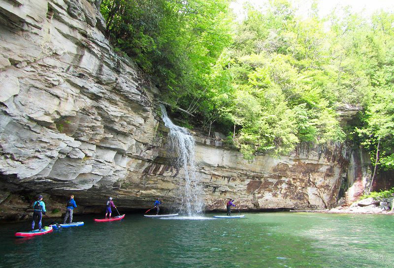 Stand up paddleboarding New River Gorge