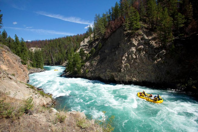 Chilko River rafting, British Columbia