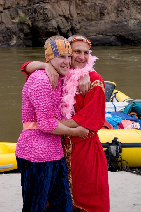 Costumes on an OARS rafting trip