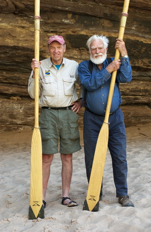 Martin Litton with OARS founder George Wendt