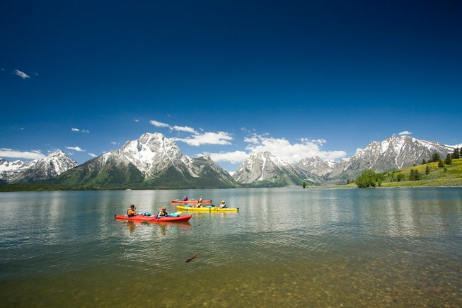 Jackson Lake Kayaking, Wyoming