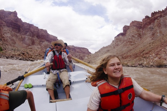 Whitewater rafting in Cataract Canyon in Canyonlands National Park, UT
