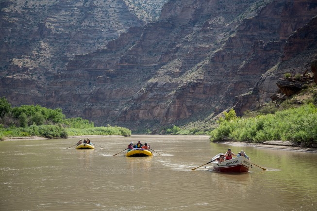Green river rafting trip, Desolation Gray section, Utah.