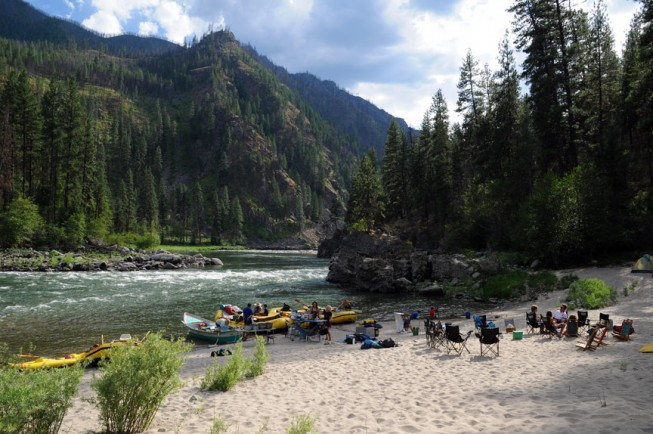 Groundhog Bar River Camp, Main Salmon River