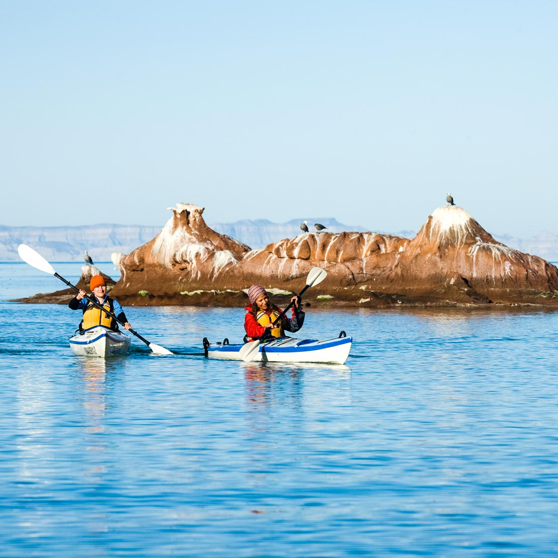 Young Women Kayaking