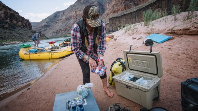 YETI coolers on an OARS. Grand Canyon rafting trip| Photo: Outside