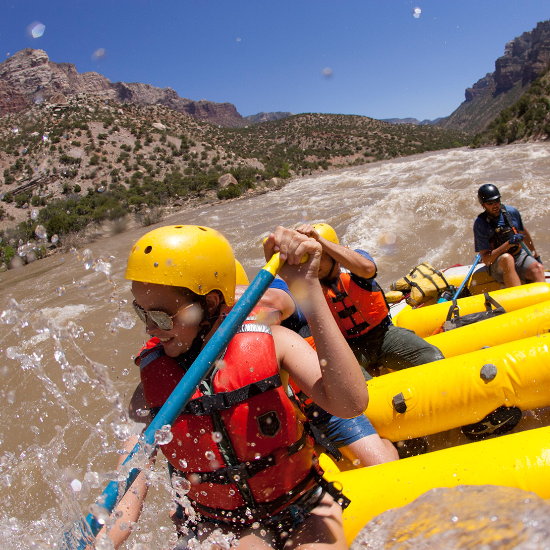 Split Mountain rafting on the Green River