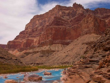 Confluence of the Colorado and Little Colorado Rivers in the Grand Canyon
