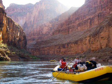 Rafting through Grand Canyon National Park