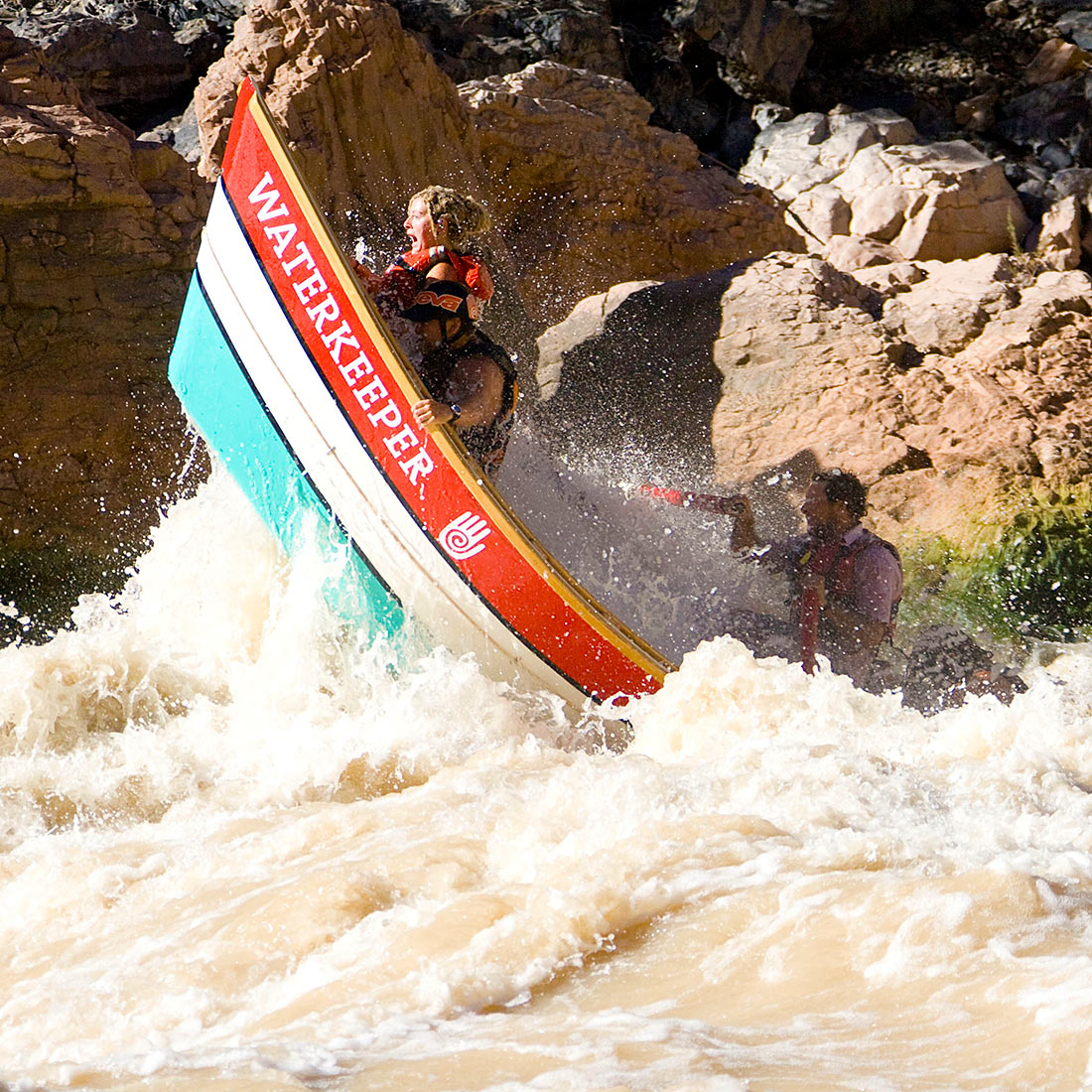 Grand Canyon whitewater rafting in a dory