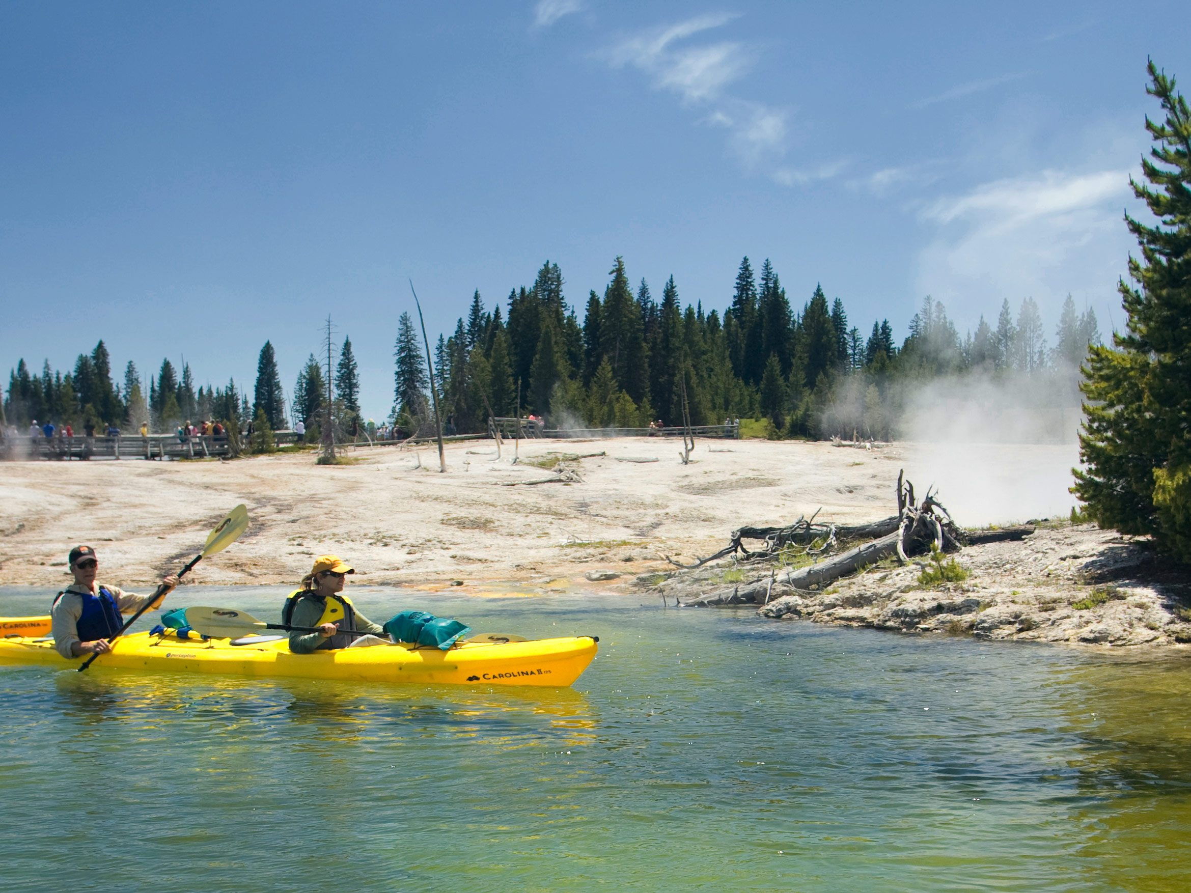 Yellowstone tours yellowstone kayaking with oars for Best fishing kayak under 800