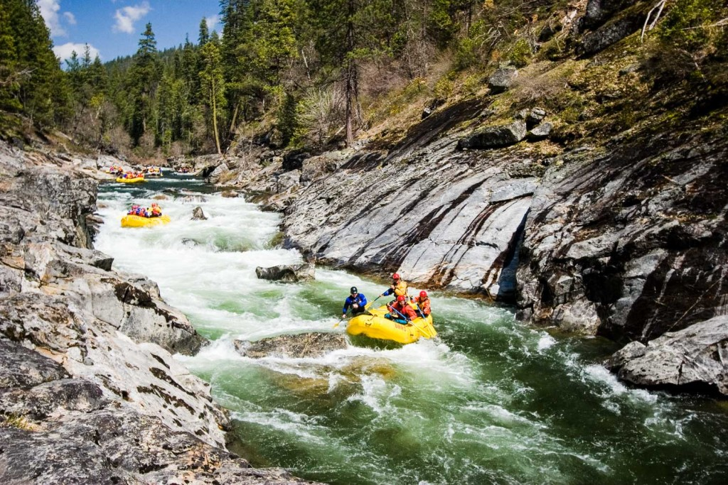 Rafting on the North Fork of the Stanislaus River in Calaveras County