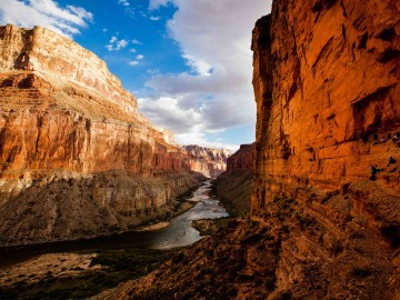Scenic overlook of the Colorado River at Nankoweap in Grand Canyon National Park