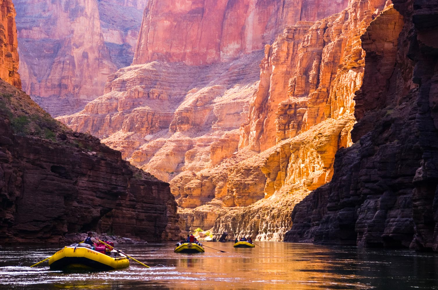 Grand Canyon Rafting With Oars Phantom Ranch Diamond Creek