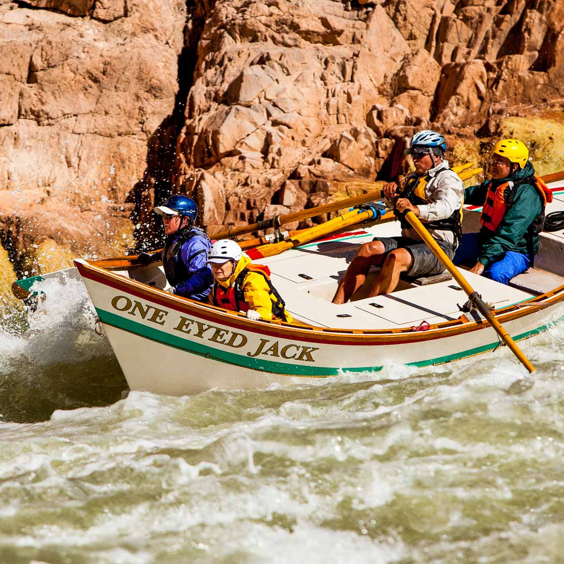 Grand Canyon Dory One Eyed Jack rafting on the Colorado River