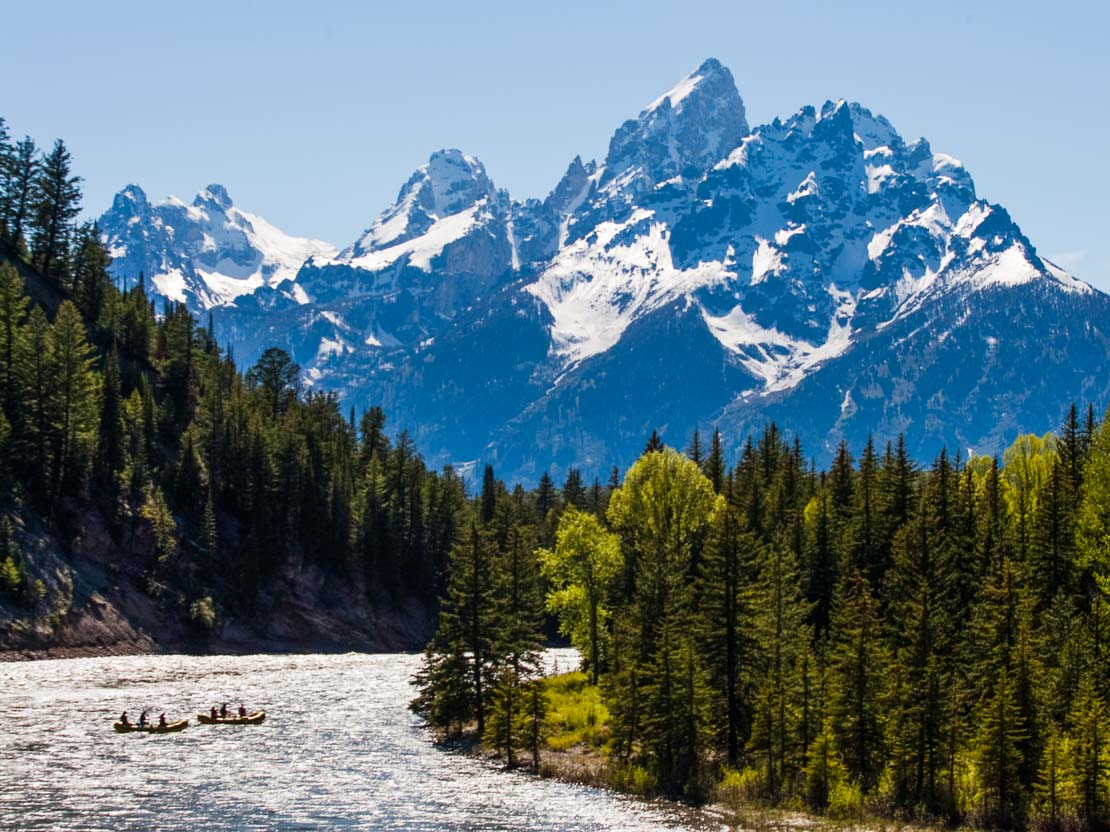 Rafting on the Snake River, Grand Teton National Park, Jackson, WY.