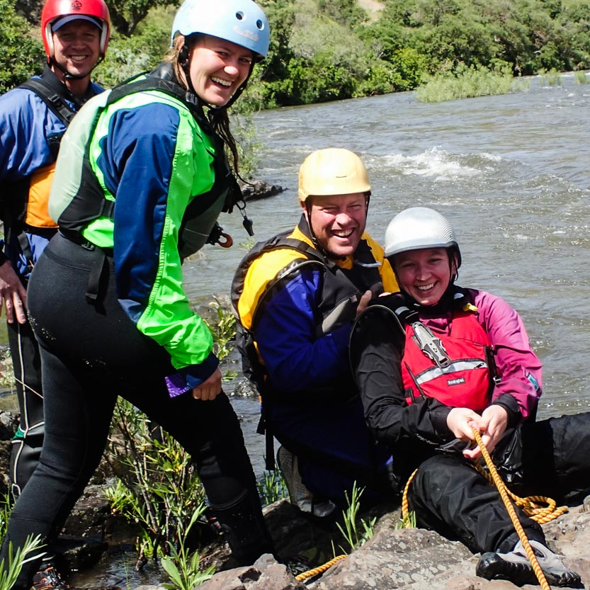 Whitewater Guide School Rescue