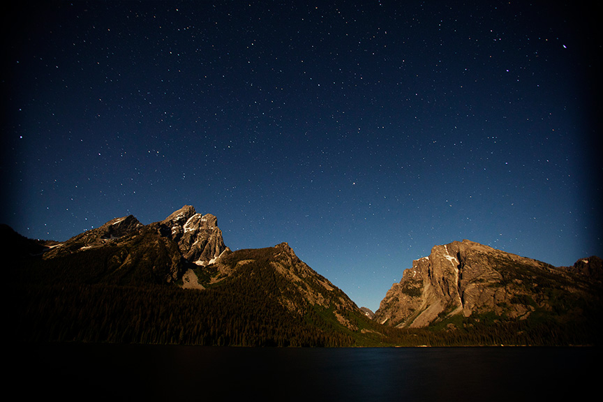Jackson Lake Starry Night, Grand Teton National Park