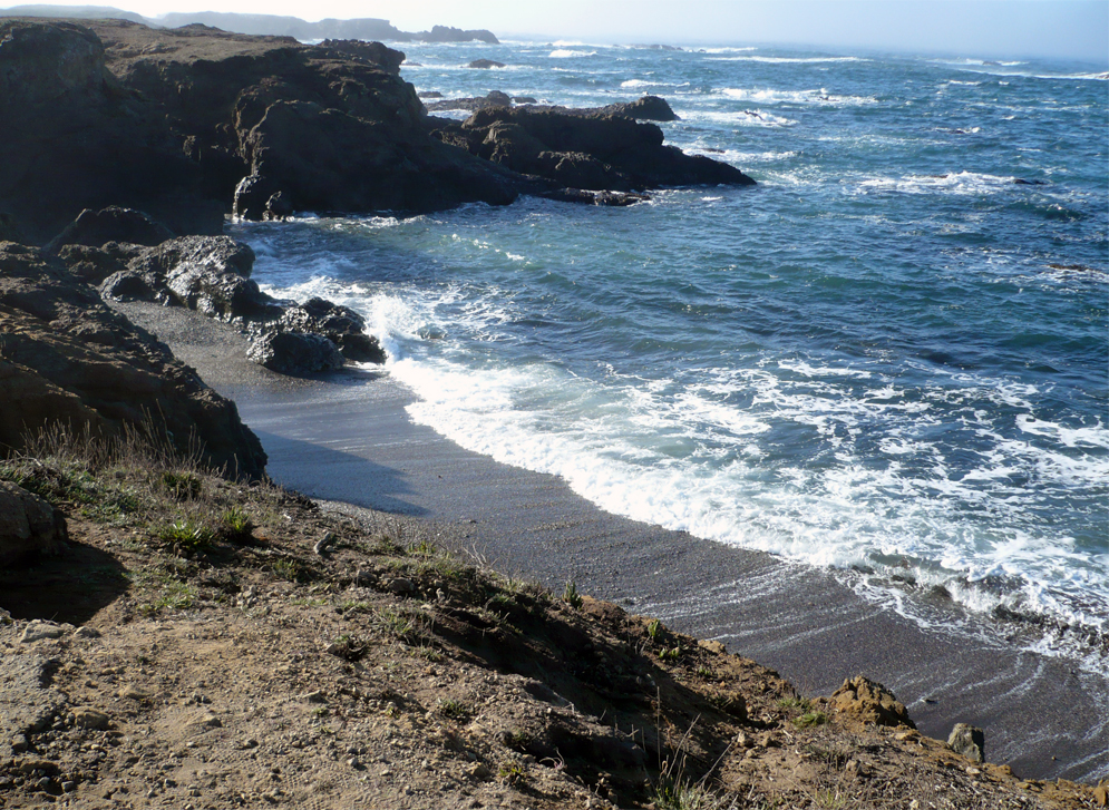 Family Vacation Idea: Fort Bragg, CA | Glass Beach | Photo: Ellin Beltz
