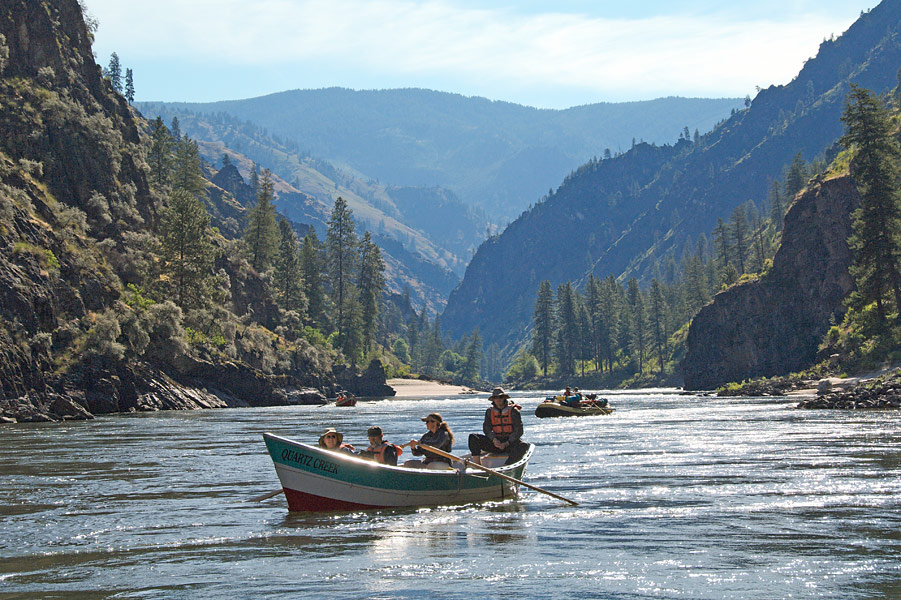 Dories on Idaho's Main Salmon River in Idaho