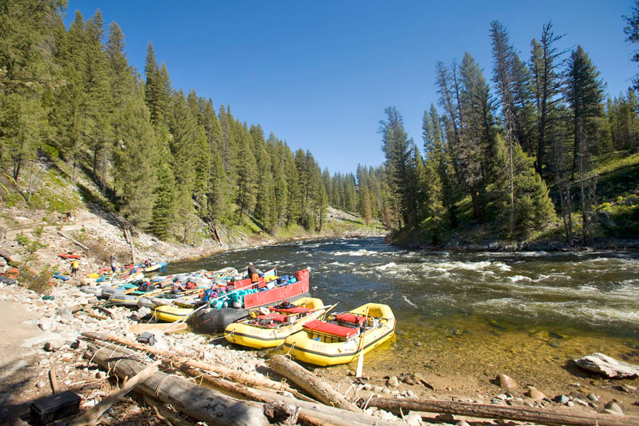 Sweep Boat on the Middle Fork of the Salmon River