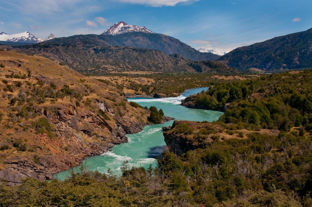 The Confluence of the Rio Baker and The Rio Neff   Patagonia, Chile   Photo: Q. Martin