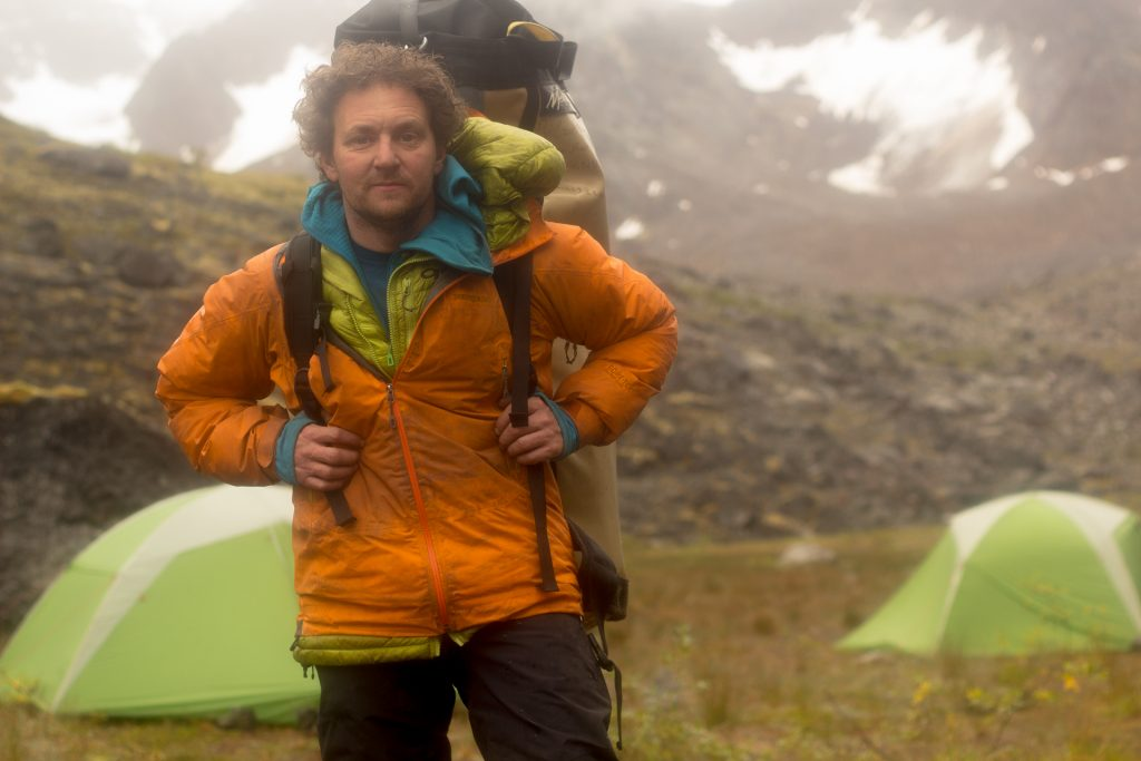 James 'Q' Martin after being after summiting Mt. Dracula and being on the go for over two days. Canada's Northwest Territories. Photo by, jamesQmartin.com