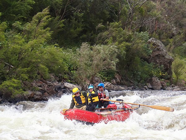 Whitewater rafting on the Snowy River in Australia
