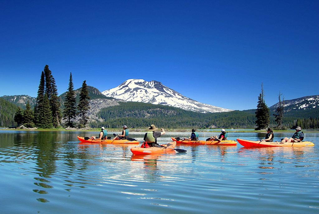 Oregon for Adventurous Families | Cascade Lakes Kayaking - Wanderlust Tours