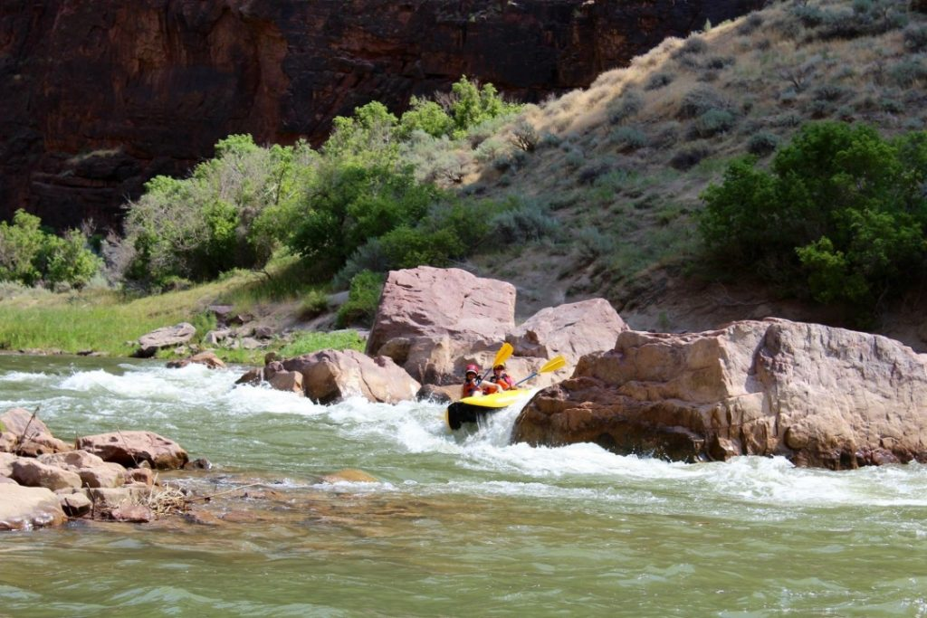 Two lifelong friends on a veterans rafting trip with OARS