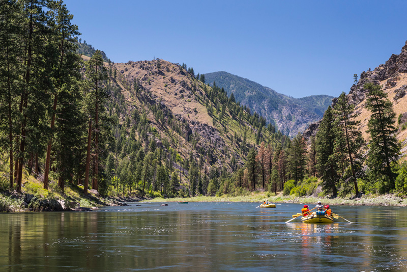 Rafting on Idaho's Main Salmon River