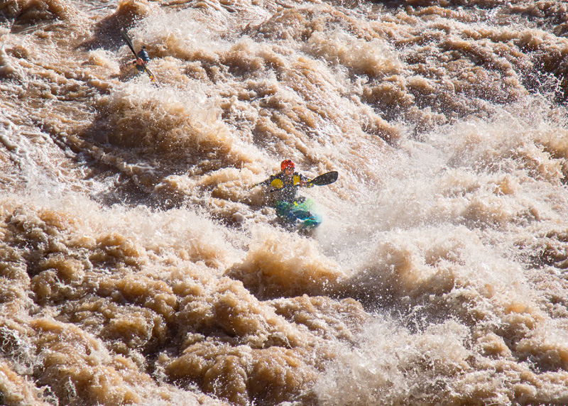 Blind kayaker Erik Weihenmayer in Lava Falls | The Weight of Water