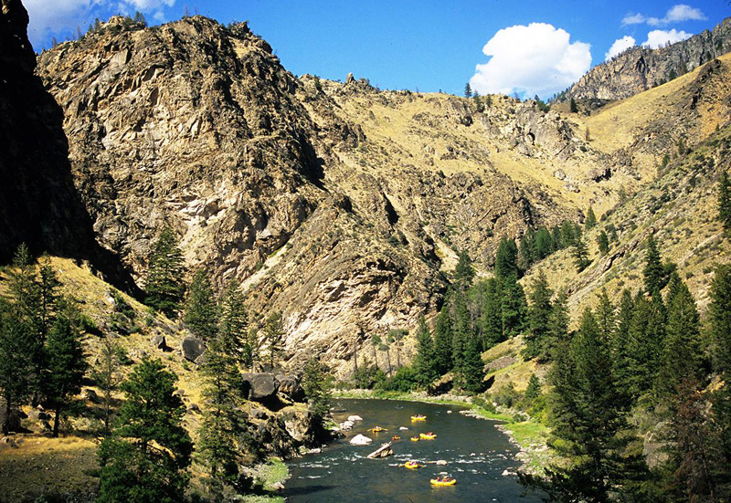 Rafting on the Middle Fork of Idaho's Salmon River