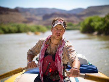 Rowing through Desolation Canyon