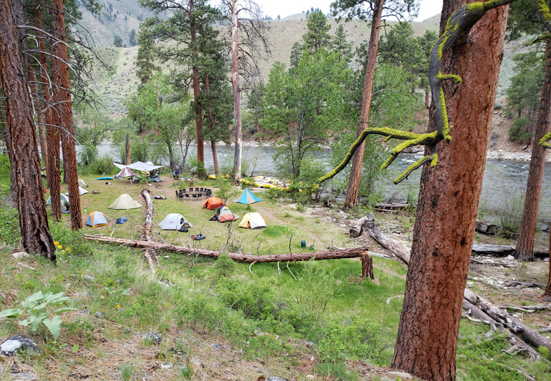 Camping on Idaho's Middle Fork of the Salmon River