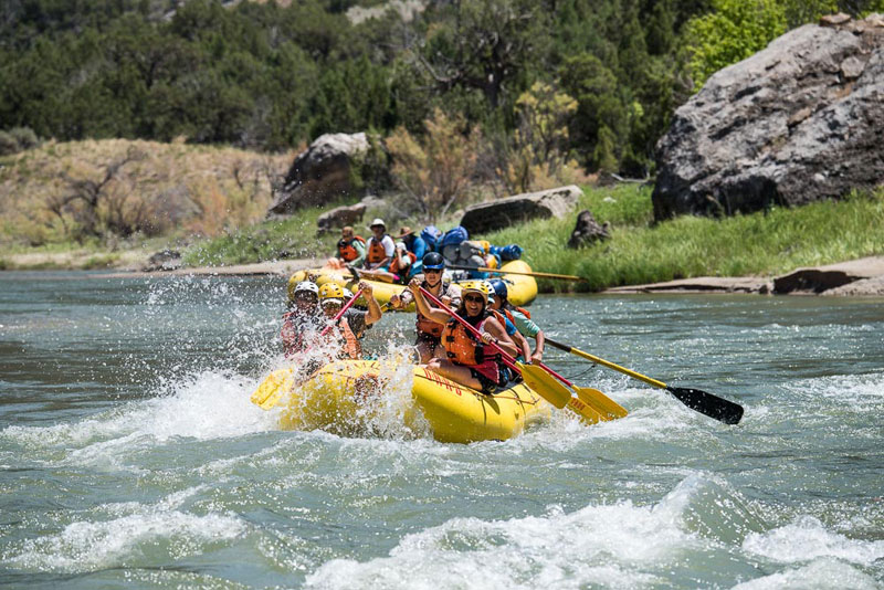 Green River rafting in Dinosaur National Monument
